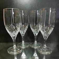 4 Wedgwood Paper White Lead Crystal Ice Tea Glasses by Jasper Conran-Signed