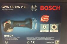 BOSCH GWS 18-125 V-LI Professional Cordless Angle Grinder (scatola, manuale incluso)