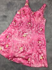 22 Beach Street Pink Floral Skirted Womens Swimsuit One Piece Plus Size 22