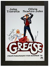 A3 Framed Poster Grease B Signed Picture