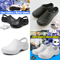 Women Unisex Medical Nursing Kitchen Chef Loafers Hole Clogs Hospital TPR Shoes