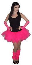 Neon Pink Tutu Skirt 80's Fancy Dress Hen Party Fun Run Charity Club 4 Layers