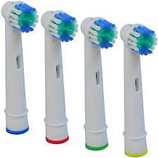 4 x recambios compatibles con cepillo de dientes electrico oral B braun