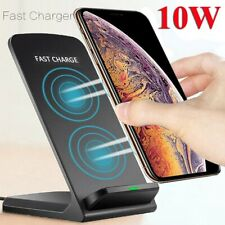 US Qi Wireless Charger 10W Fast Charging Dock Stand For i Phone 11 Samsung S10+