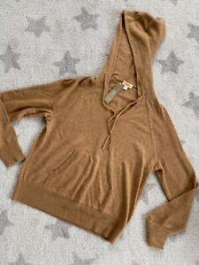 Jcrew Sweater Hoodie Size S 100% Cashmere MSRP 198$ New beige