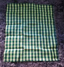 Women's Soft Silk (Soth) Sarong, Green with Multi-Color Unsew.