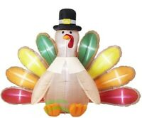 HALLOWEEN THANKSGIVING TURKEY COLORS INFLATABLE AIRBLOWN  6.5 FT