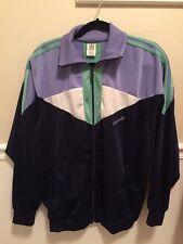 Vintage Adidas Track Jacket Tri Foil Logo 80s Medium  Sweat Jacket Zipper