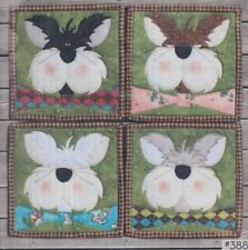 Bowtie Kitty Coasters - fun applique & pieced PATTERN - Whole Country Caboodle