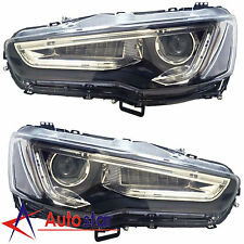 Pair LED DRL Headlights Headlamps A5 Style For 2008-2017 Mitsubishi Lancer EVO