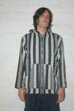 Baja Hoodie Indian Festival Hippy Drug Rug Jerga Zip Up Cotton