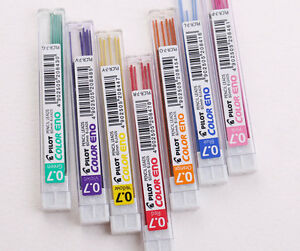8 Color Set Pilot Eno 0.7mm Mechanical Pencil Color Lead Refills