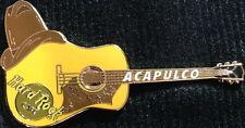 Hard Rock Cafe ACAPULCO 2003 Brown HAT Acoustic Flamenco GUITAR PIN - HRC #20631