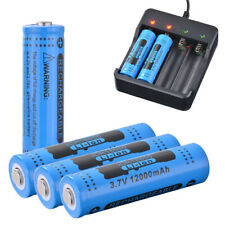 4Pcs Genuine GTL 18650 Battery 3.7V Rechargeable Li-ion 12000mAh Blue RC994