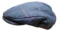 Wwk para Hombre Derby Tweed Gorra Plana Azul Gatsby caminar Tiro Caza Pesca