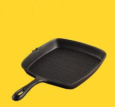 Professional Steak Frying Pan Cast Iron Non-stick No Oil Fumes 24cm Flat Bottom