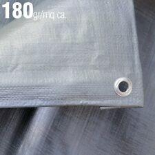Telo Occhiellato Impermeabile: 180gr/mq, Occhielli in Alluminio Bordo Rinforzato