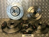 DRILLED & GROOVED FRONT & REAR BRAKE DISCS & PADS FORD TRANSIT CONNECT 2013>