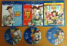 Blu-Ray TOY STORY 1 2 3 ~ Authentic Region A ~ Disney Blu Ray + cases READ
