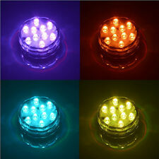 SUBMERSIBLE 10 LED RGB LIGHT PARTY VASE UNDERWATER WATERPROOF LAMP DECOR SELLING