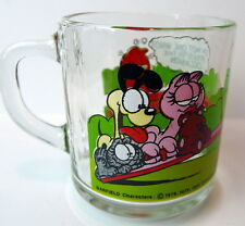 Garfield Odie Glass Mug McDonalds I'm Not One Who Rises to the Occasion 1980
