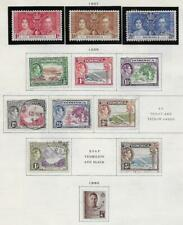 12 Dominica Stamps from Quality Old Antique Album 1937-1940