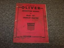 Oliver Cletrac DD Bulldozer Dozer Crawler Owner Operator & Instruction Manual