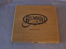 Belmondo Wood Cigar Box 10 Churchills Puros Hechos A Mano