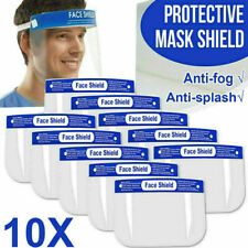 �� 10 Pcs Safety Face Shield Anti-Splash Reusable Washable Protection Cover