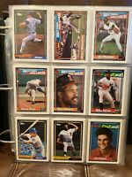 1992 Topps Complete Set #1-792 in Deluxe Album - Mint Chipper/Griffey/Nolan HOF