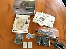Canon PowerShot G10 14.7MP Digital Camera - Black - With Charger and 2 Batteries