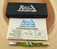 Santa Fe Stoneworks Green Mojave Turquoise Tuxedo Turquoise Knife NIB