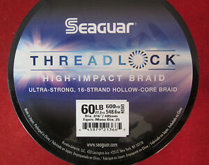 Seaguar Threadlock Strong Hollow Cord Braid - Green -60lb/ 600yd
