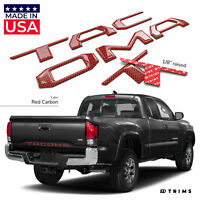 Red Carbon 3D Domed Raised Letters Inserts fits Toyota Tacoma 2016-2020 Tailgate