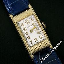 Vintage Men's Yellow Gold Filled American Waltham Mechanical 17j Wrist Watch