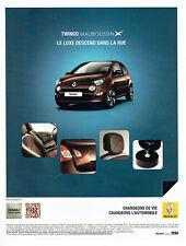 Publicité Advertising 088 2012   la Renault  Twingo Mauboussin *