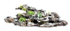 Large Driftwood with Holes & Plants Aquarium Fish Cave Terrarium Ornament 49cm