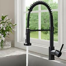 Black Kitchen Taps Kitchen Sink Mixer tap with Solid Brass Commercial