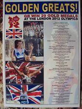 Team GB London 2012 Olympic Games Gold Medals - souvenir print