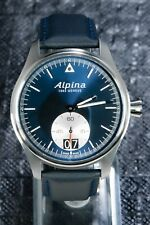ALPINA STARTIMER PILOT BIG DATE 44MM MENS BLUE SUNRAY DIAL AL-280NS4S6 MINT⌚⌚