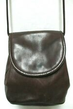 Fossil 1954 Vintage 75082 brown leather crossbody bag purse Organizer small