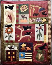Meme's Quilts Prim Style Quilt Pattern AS THE CROW FLIES MQ#226 Colorful Fun !