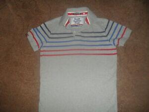 Superdry Grey Stripe Polo Shirt Size Medium