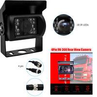 Auto Bus Rückansicht Rückfahrkamera CCD LKW 18 LED IR Nachtsicht 4 Pin 12V-24V