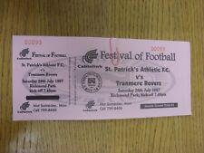 26/07/1997 Ticket: St Patricks Athletic v Tranmere Rovers [Festival Of Football]