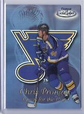 1999-00 TOPPS GOLD LABEL CHRIS PRONGER BLACK QUEST FOR THE CUP BLUES