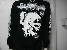 SATANIC WARMASTER.NEW.LRG LONG SLEEVE SHIRT.BLACK METAL.GOATMOON.MOONBLOOD.MGLA