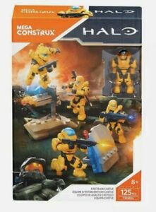 HALO MEGA BLOKS CONSTRUX FMM86 UNSC FIRETEAM CASTLE BUILDING SET HUNTER VECTOR
