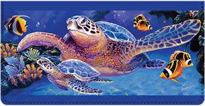 Sea Turtle Leather Cover for  Duplicate Checks