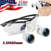 Comfortable Dental Surgical Medical Binocular Loupes 3.5X 420mm Optical Loupe